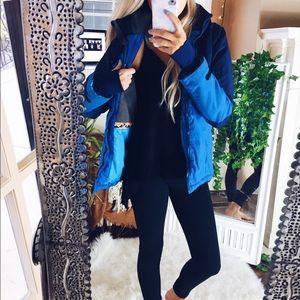 H&M// Insulated Rain Jacket Indigo Blue Aztec A19